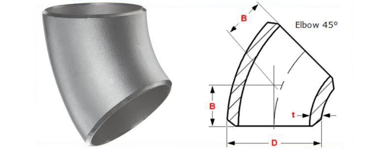 Stainless Steel 316 / 316L Pipe Fitting Elbow manufacturers exporters in Saudi Arabia