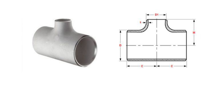 Stainless Steel Pipe Fitting 347h Tee manufacturers exporters in Africa
