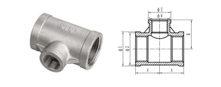 Stainless Steel Pipe Fitting 304h Tee manufacturers exporters in Bangladesh