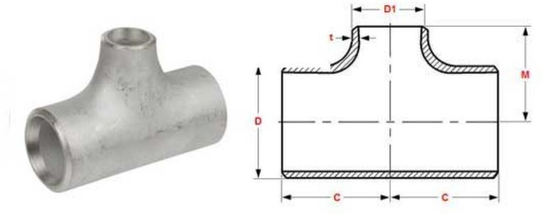 Stainless Steel Pipe Fitting 304h Tee manufacturers exporters in Brazil