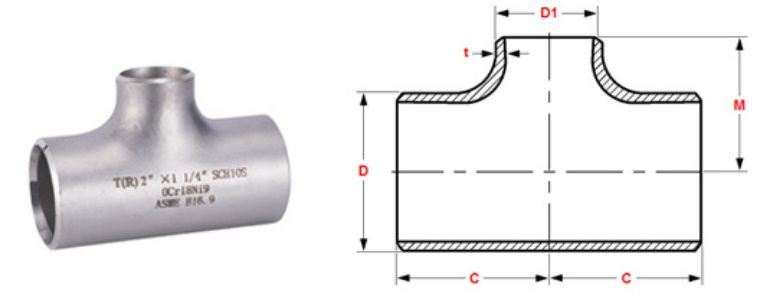 Stainless Steel Pipe Fitting 310h Tee manufacturers exporters in Iran
