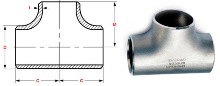 Stainless steel Pipe Fitting Tee manufacturers exporters in Kuwait