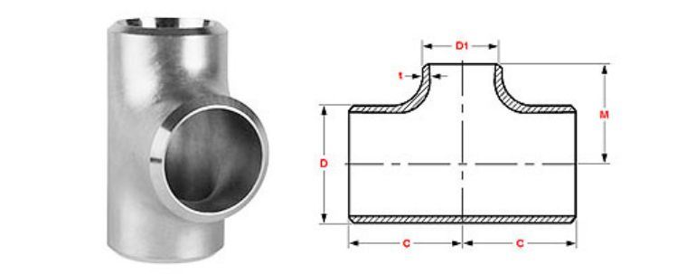 Stainless Steel Pipe Fitting 304 Tee manufacturers exporters in Malaysia
