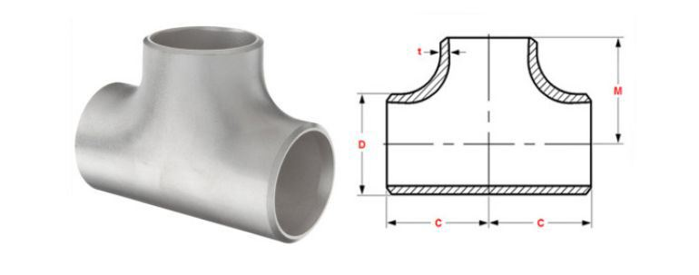 Stainless Steel Pipe Fitting 347h Tee manufacturers exporters in Mexico