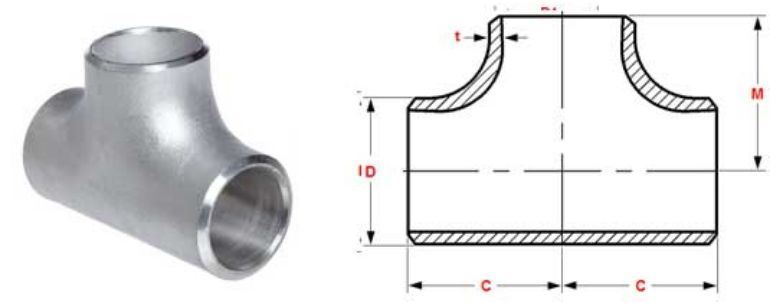 Stainless Steel Pipe Fitting 410 Tee manufacturers exporters in Qatar